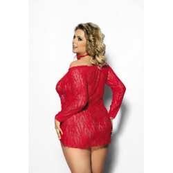 Alecto red chemise XXL+ (...