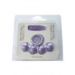 Kulki-PLEASURE PEARLS 4 VIOLET